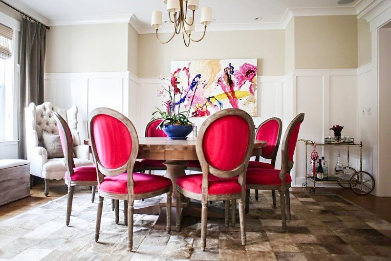 Tickel Pink Dining Room 01   Colhoun Clan