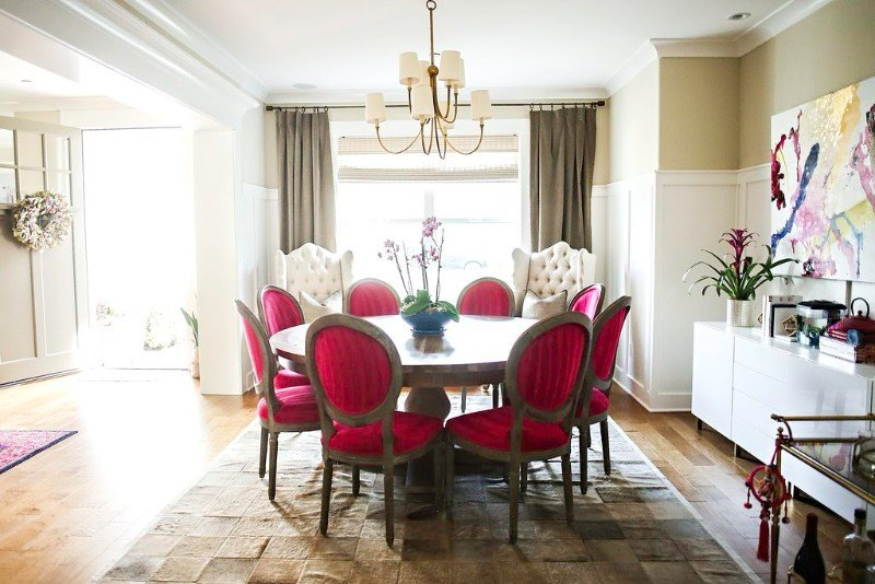 Tickel Pink Dining Room 04 - Colhoun Clan